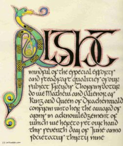 Celtic illumination and calligraphy